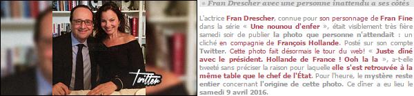 - ─ Découvrez des nouvelles photos de Fran Drescher , durant son séjour dans notre capitale. Notre célèbre nounou était en voyage dans notre chère capitale française, Paris, elle était accompagnée de son mari et quelque ami(e)s proche. -