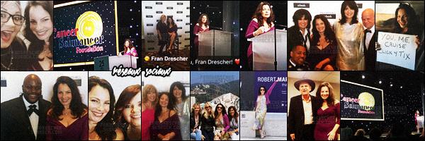 - 15/05/16 : Fran Drescher était présente à l'évènement « Paul Mitchell School  » - où elle a parlé de son association. On a pu également voir la belle brunette se prendre en photos avec des fans et bien plus encore. Les photos seront en ligne dans quelque temps. -