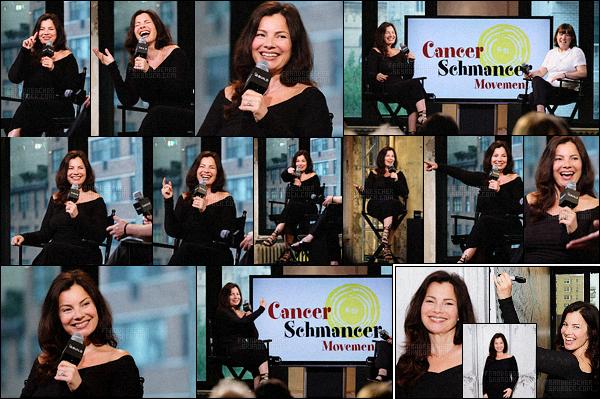 - 16/06/16 : Fran Drescher était l'invitée de « AOL Build Speaker Series », elle a parlé de son projet - New York City La brunette a parlé de sa croisière pour son association Cancer Schmancer, qui se déroulera le 20 juin, également de parlé de Ann Morgan Guilbert. -