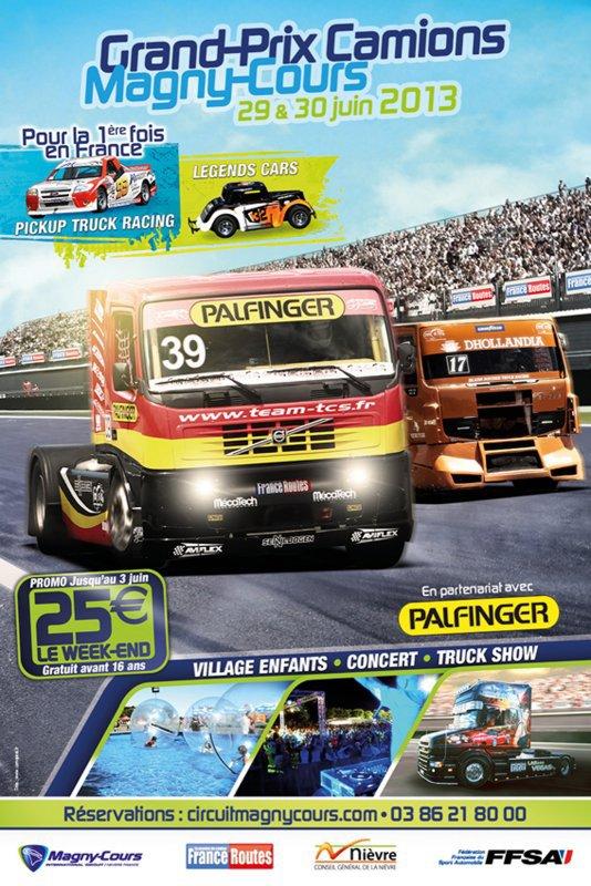 Grand-Prix Camions à Magny-Cours le 29 & 30 juin 2013
