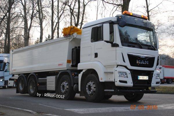 Rassemblement de camions à l'AFTRAL de Monchy-Sait-Eloi le 7-03-2015