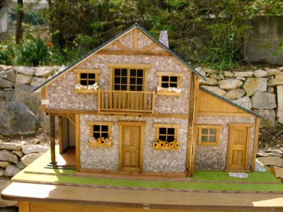 le chalet rustique mes miniatures. Black Bedroom Furniture Sets. Home Design Ideas
