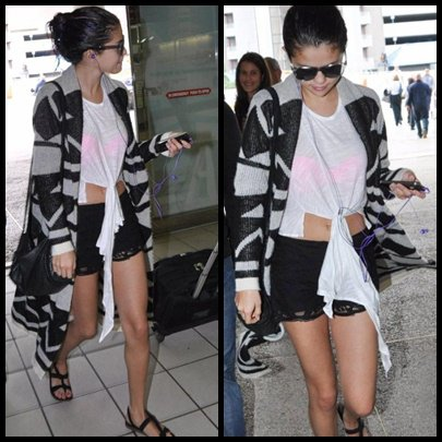 24/01/2012: Selena à été aperçu quittant Puerto Rico.