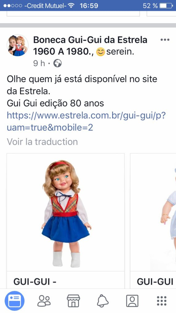 Gui gui sa estrela au Brésil ou giggles aux USA ou chez nous Marika