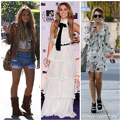Les tops 2010 de Miley cyrus