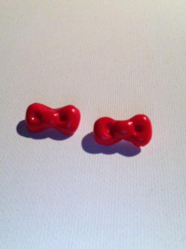 Boucles d'oreilles puces n½uds