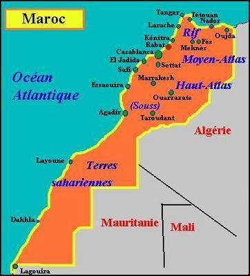 Carte géographique   Photos excusifs au maroc!!