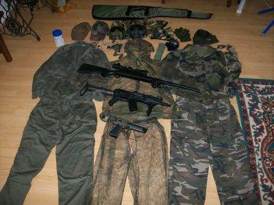 Équipement complet d'airsoft