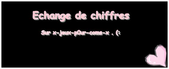 Echange de Chiffre