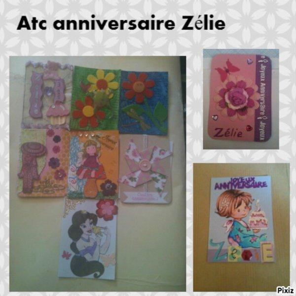 Atc recu pour l'anniversaire de Zélie
