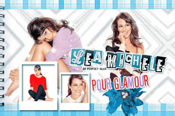 Photoshoots Lea pour Glamour magazine [ créas par Funny-glee ♥ ]