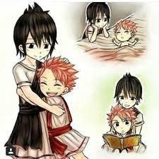 Zeref et Natsu enfants