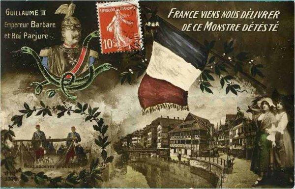 Carte Annexion Alsace Lorraine.Alsace Lorraine Cartes Postales Apres La 1ere Guerre