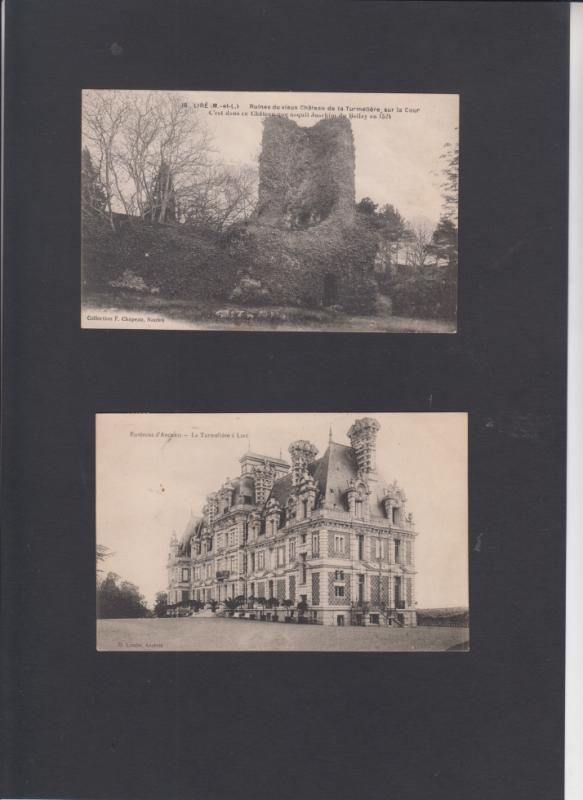 """Le Chateau de la Turmeliere où est né Joachim Du Bellay à Liré et le nouveau qui était en 1956 une colonie de vacances , ou plutot un """"Aerium """""""