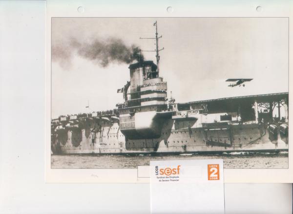 Le Béarn, premier porte avions de la marine française en 1928 retrait service actif : 31/03/1967 ---démantelé à Savone ( Italie ) en 1967/68.