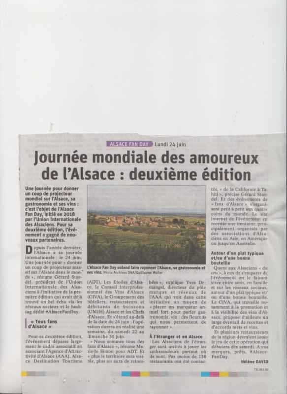 2 e Fete de l'Alsace et des Alsaciens du monde entier  le 24 juin