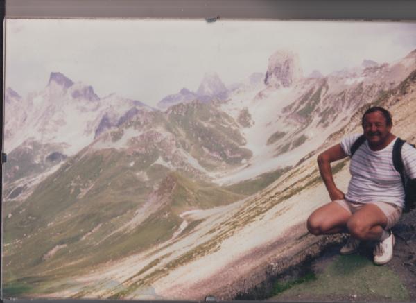 Pour l'ami Clo Clo de la Drome - au col du CLOU - pour la descente sur Roseland en Ht Savoie