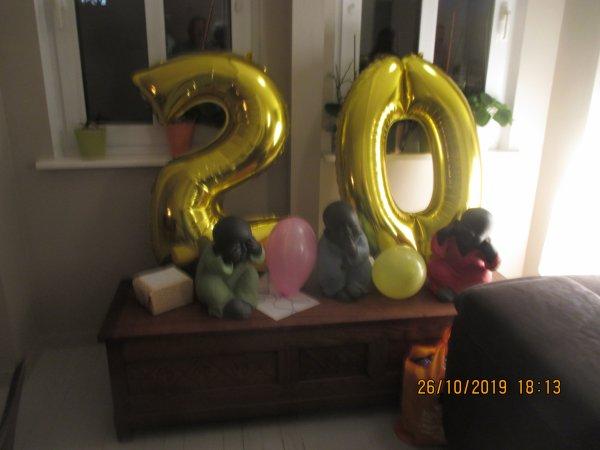 Les 20 ans de notre avant derniere petite fille EVE