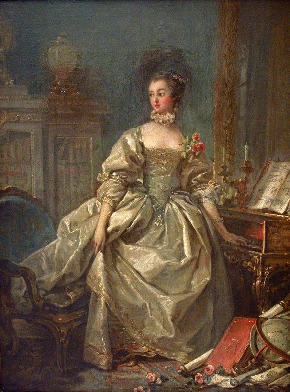François Boucher, La Marquise de Pompadour, madame de Pompadour maitresse un temps du sieur Louis XV