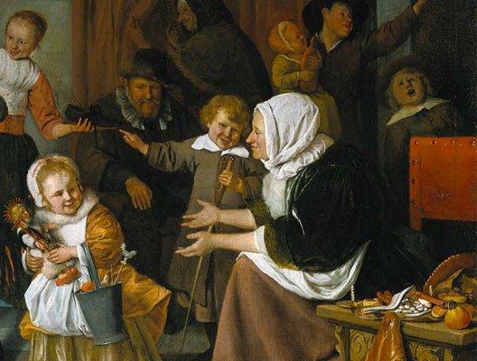 La fête de Saint Nicolas (Jan Steen, 1665-1668, Rijksmuseum Amsterdam) . Bravo  nomaka  papi  josy  nono  dany