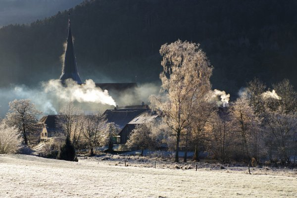 Hiver dans less Vosges coté Alsacien ..
