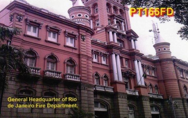QSL de radioamateurs Sapeurs-Pompiers
