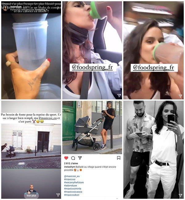 Du 5 Mai au 27 Juin 2021, Shy'm a posté sur son Instagram