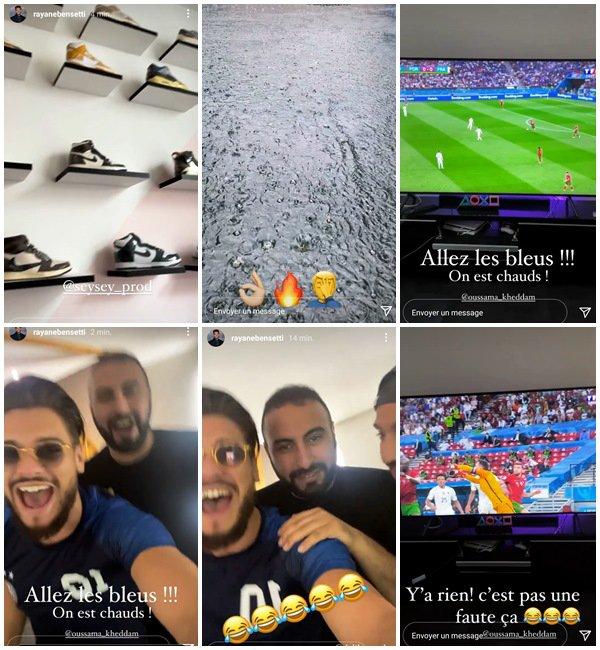 Du 19 Juin au 1er Juillet 2021, Rayane a posté sur son Instagram