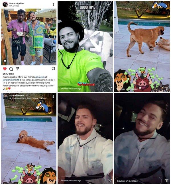 Du 1er au 11 Juillet 2021, Rayane a posté sur son Instagram
