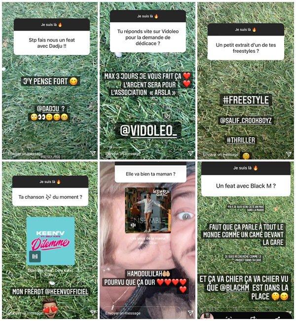 Du 11 au 20 Juillet 2021, Rayane a posté sur son Instagram