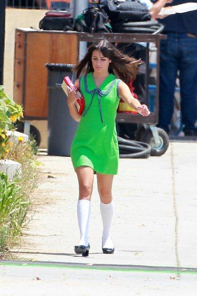 Sur le tournage, de Glee!