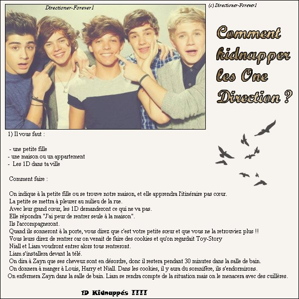 Comment Kidnapper les One Direction ?