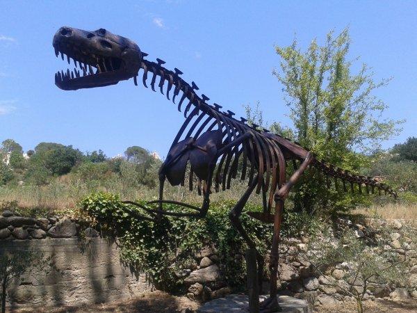 Squelette en métal d'un T Rex