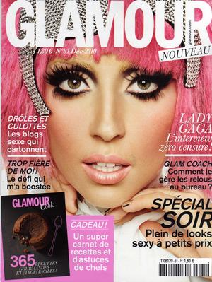 """Jeudi 04 novembreGaga Dans Le Magazine """"GLAMOUR"""" pour le mois de décembre"""