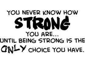 Parce que parfois être forte c'est afficher ces faiblesses