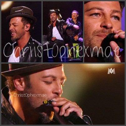 Christophe était dans X Factor hier soir.