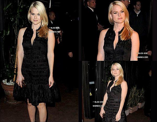 . 27/02/11__Alice était a la soirés Pré-Oscar pour fetés la célébration d'un Film. __Top ou Flop ? .