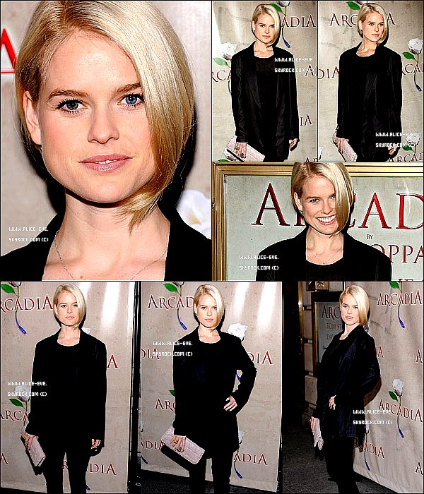 . 26/03/11__Alice la soirés de  '' Arcadia '' Broadway pour fetés l'ouverture . __Top ou Flop ? .