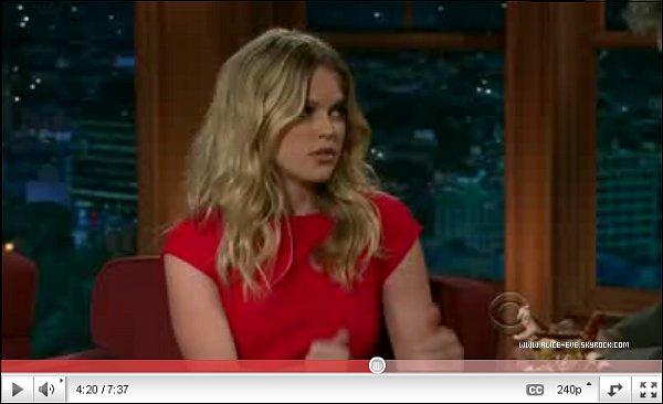 . Lors d'une inteview avec Craig Ferguson, Alice a parlé a propos de ses show datant de 2010 et autres ! .