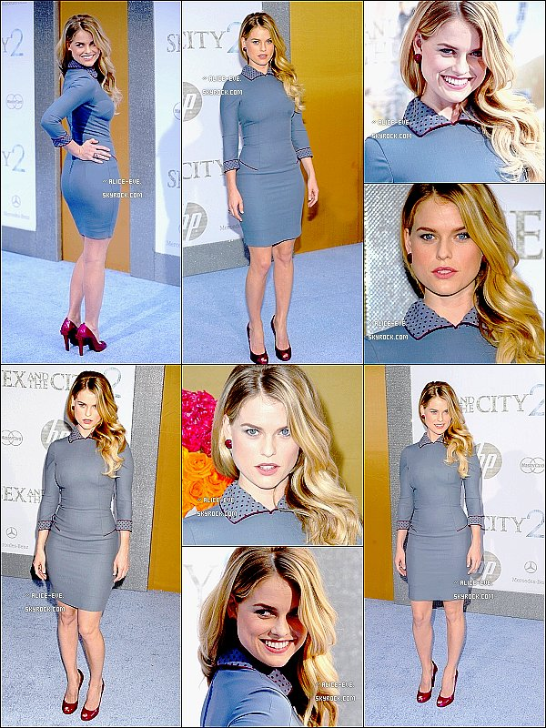 . Alice, a la premiere de '' Sex And The City 2 '' a NewYork.. La tenue bof, mais elle, reste sublime ! .