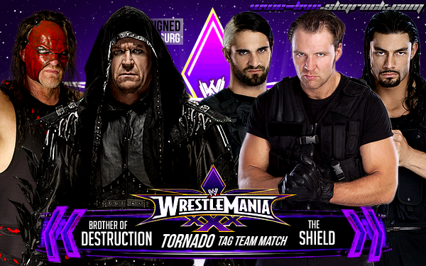 WrestleMania xXx : Brother of Destruction vs. The Shield Tornado Tag Team Match