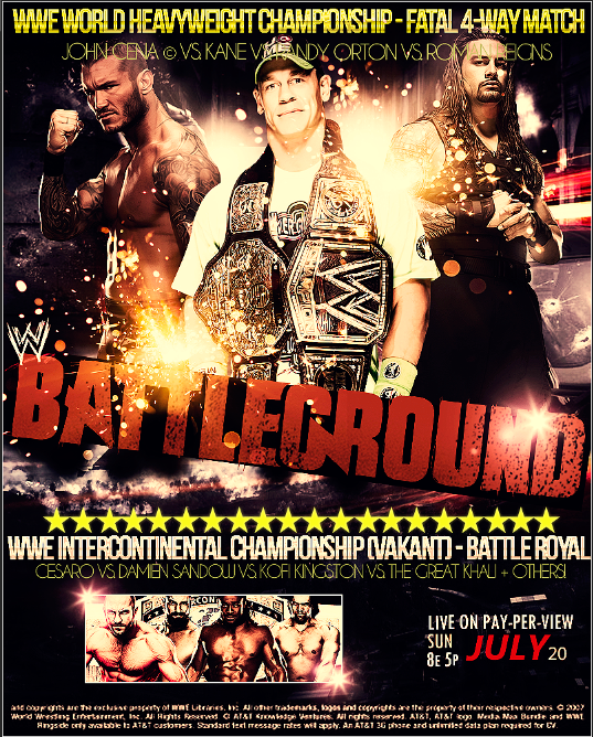 WWE Battleground : 20 Juillet 2014 ! @AB1 Artworks créés par KyoPrince