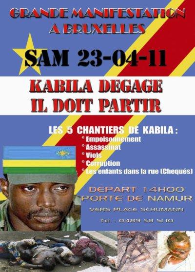 Les patriotes,combattants, et sympathisans de la cause du Congo vous donnent rendez-vous samedi 23/04/2011 à Bruxelles