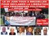 Tous à Bruxelles le 29 juin 2013 pour réclamer la libération des prisonniers politique en RDC