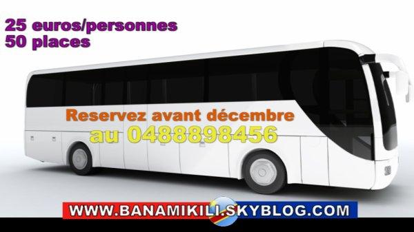 Mobilisation et réservations des places d'autocars des combattants de Belgique pour le concert ya JB Mpiana