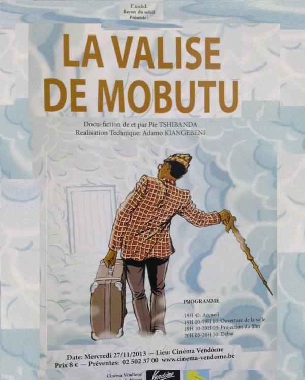 """Ce mercredi 27 novembre à 19 heures au cinema Vendôme à Matonge projection du docu-fiction de Pie Tshibanda """"la valise de Mobutu""""Soirée à ne pas manquer!!!"""