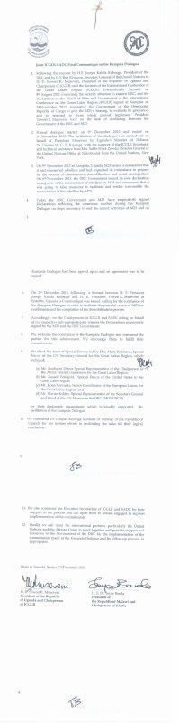 Kabila vient de signer l'accord qui permet le partage des territoires Congolais avec le Rwanda et l'Ouganda et le retour du M23