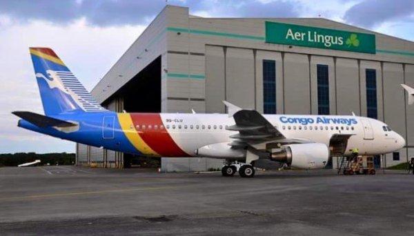 L'A320 de Congo Airways saisi à Dublin à cause d'une créance de l'état congolais!