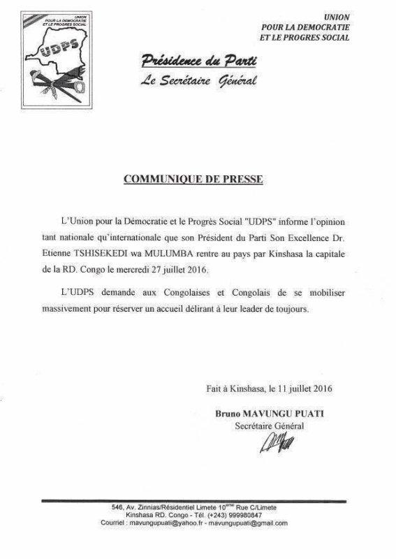 Henri Mova sur RFI : Que va faire Kabila le 19 décembre 2016 entre fuir,référendum et transition ?