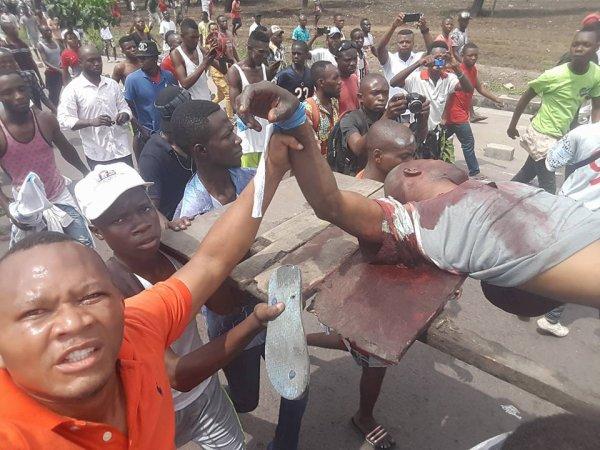 Premières images de la marche à Kinshasa ce lundi 19 septembre